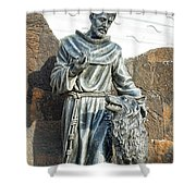 Saint Francis In Galapagos Shower Curtain
