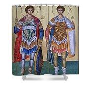 Saint George And Saint Dimitrios Shower Curtain