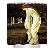Saint George And The Dragon The Princess Tied To The Tree 1866 Shower Curtain