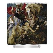 Saint George Battles The Dragon Shower Curtain