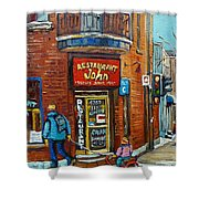 Saint Henri Street In Winter Shower Curtain