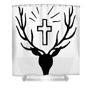 Saint Huberts Stag Shower Curtain