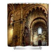 Saint Isidore - Romanesque Temple Transept Shower Curtain