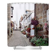 Saint Ives Street Scene, Cornwall Shower Curtain
