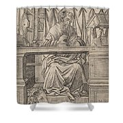 Saint Jerome In His Study Shower Curtain