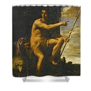 Saint John The Baptist In The Wilderness Shower Curtain