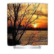 Saint Johns River Sunset  Shower Curtain