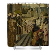 Saint Lawrence Before The Prefect Shower Curtain