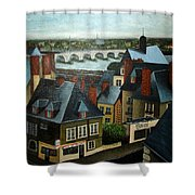 Saint Lubin Bar In Lyon France Shower Curtain