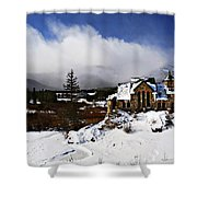 Saint Malo Church Colorado Shower Curtain