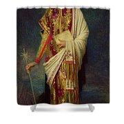 Saint Margaret Slaying The Dragon Shower Curtain by Antoine Auguste Ernest Herbert