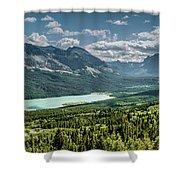 Saint Mary Lake Panorama Shower Curtain