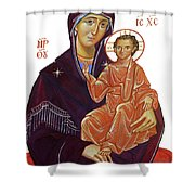 Saint Mary With Baby Jesus Shower Curtain