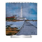 Saint Mary's Lighthouse Shower Curtain