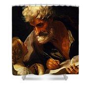 Saint Matthew 1621 Shower Curtain