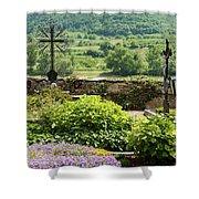 Saint Michael Church Cemetery Shower Curtain