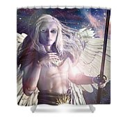 Saint Michael Doll Shower Curtain
