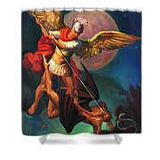 Saint Michael The Warrior Archangel Shower Curtain