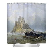 Saint Michael's Mount In Cornwall  Shower Curtain