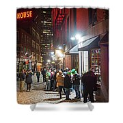 Saint Patrick's Day On Marshall Street Boston Ma Shower Curtain