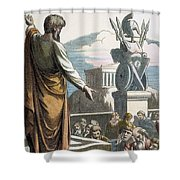 Saint Paul At Athens Shower Curtain