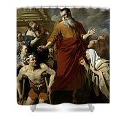 Saint Paul Healing The Cripple At Lystra Shower Curtain