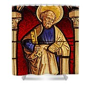Saint Peter  Stained Glass Shower Curtain