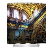 Saint Peter's Beams Of Light Shower Curtain