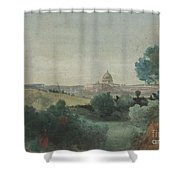 Saint Peter's Seen From The Campagna Shower Curtain