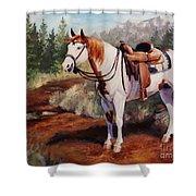 Saint Quincy Paint Horse Portrait Painting Shower Curtain