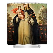 Saint Rose Of Lima With Child Jesus Shower Curtain