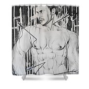Saint Sebastian  2 Shower Curtain