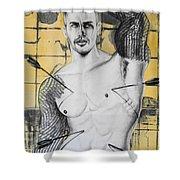 Saint Sebastian Shower Curtain by Carmine Santaniello