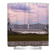 Saint Simon Island Lighthouse Shower Curtain