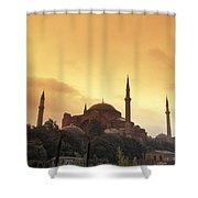 Saint Sophia Hagia Sophia At Sunset Shower Curtain