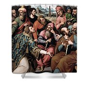 Saint Stephen In The Synagogue Shower Curtain
