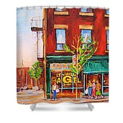 Saint Viateur Bagel Shower Curtain