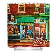 Saint Viateur Bakery Shower Curtain