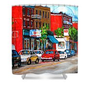 Saint Viateur Street Shower Curtain