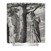 Saint Victorinus Does Penance Shower Curtain