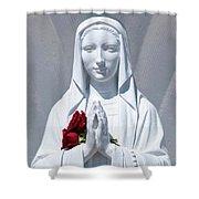 Saint Virgin Mary Statue #1 Shower Curtain