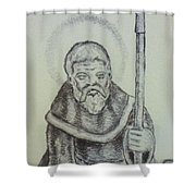Saint Wulfric The Miracle Worker Shower Curtain