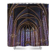 Sainte Chapelle Stained Glass Paris Shower Curtain