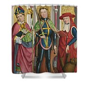 Saints Ambrose Exuperius And Jerome Shower Curtain