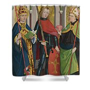 Saints Gregory Maurice And Augustine Shower Curtain