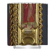 Saints Nicholas Damian And Margaret   Right Pilaster Shower Curtain