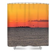 Sakonnet Point Sunrise And Lighthouse Shower Curtain