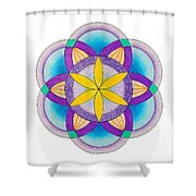 Sakred Art Seed Of Life Shower Curtain