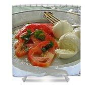 Salad Caprese Shower Curtain