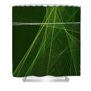 Salad Computer Graphic Line Pattern Shower Curtain